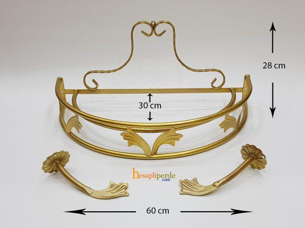 altın cibinlik demir duvara monte ölçü