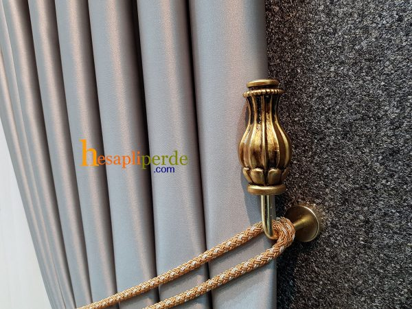 altın gold vase renso perde toplama