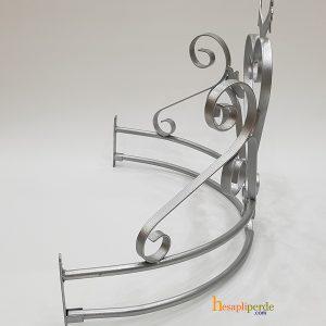 duvara monte cibinlik demiri gümüş