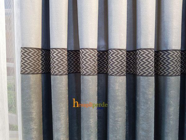 gri fon perde soft kumaş