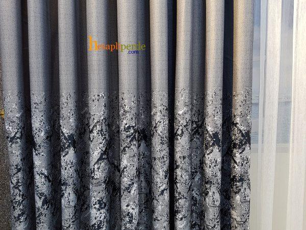 hesaplıperde gri fon perde keten kumaş
