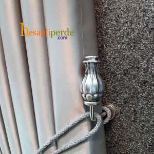 vase renso gümüş perde toplama aparatı
