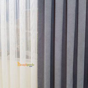 gri fon perde açık gri nubuk kumaş hesapliperde