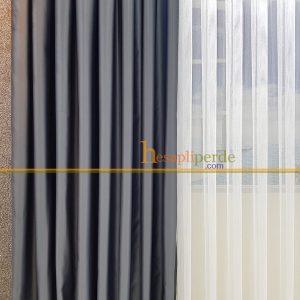 açık gri mat saten kumaş fon perde