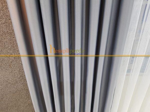 gri perde fon perde açık gri mat saten