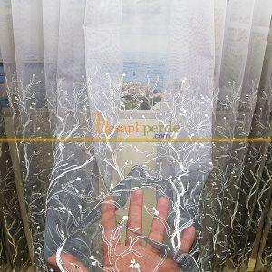 ağaçdalı gri tül perde etek işleme