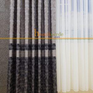 cotton fon perde gri antrasit füme