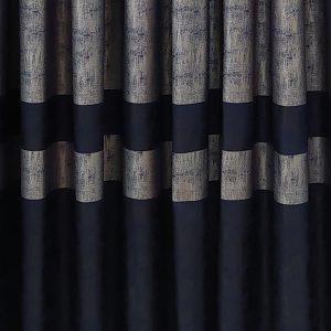 cotton fon perde lacivert gri renk