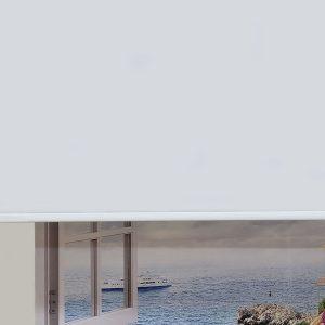 beyaz stor polyester
