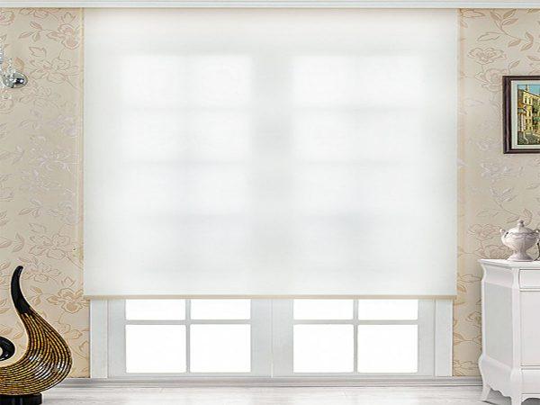 stor perde beyaz renk polyester