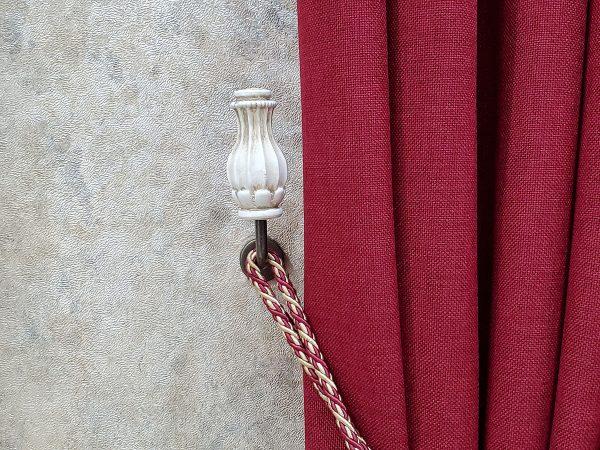 vase beyaz eskitme renso perde toplama