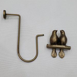 bronz eskitme kuslu perde demiri