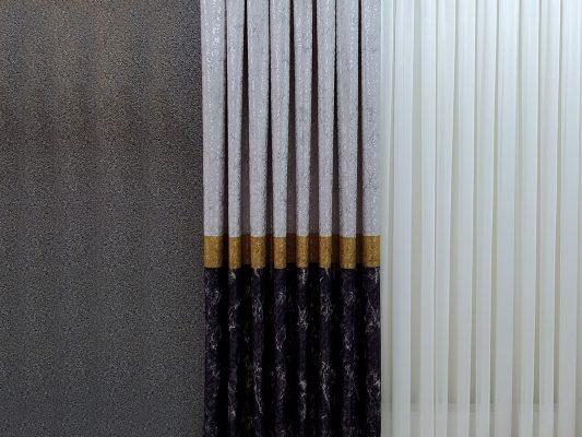 hesapliperde brillant fon perde gri antrasit sari gold